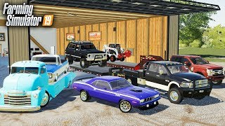 FS19- MOVING MUSCLE CARS & TRUCKS OVER TO OUR NEW DEALERSHIP! CHEVY BLAZER & DODGE CUDA