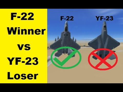 Lockheed Martin F-22 Raptor vs Northrop Grumman YF-23