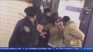 Cop Fights Off Aggressive Homeless Group In Subway