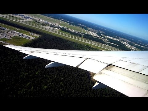 Spectacular takeoff on United Boeing 777 | Houston-Amsterdam + Keukenhof, Leiden & boat hotel