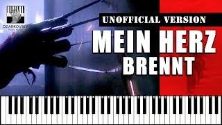 Rammstein Mein Herz Brennt Piano Cover (UNOFFICIAL VERSION by A. Dzarkovsky)