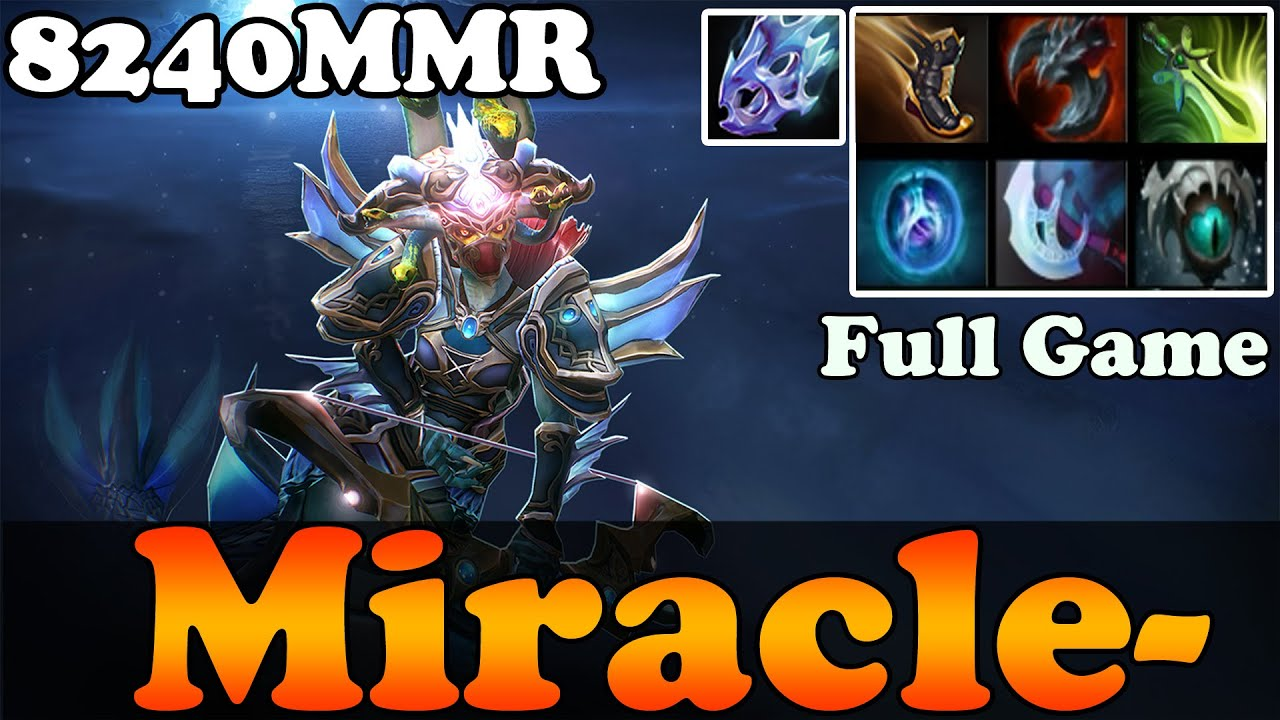 dota 2 patch 6 86 miracle 8240mmr plays medusa full game
