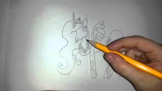 Рисую принцессу Селестия(В этом видео я буду рисовать персонажа из мультика My little pony, принцессу Селестия!) Подписывайтесь на мой кана..., 2016-02-10T11:13:30.000Z)