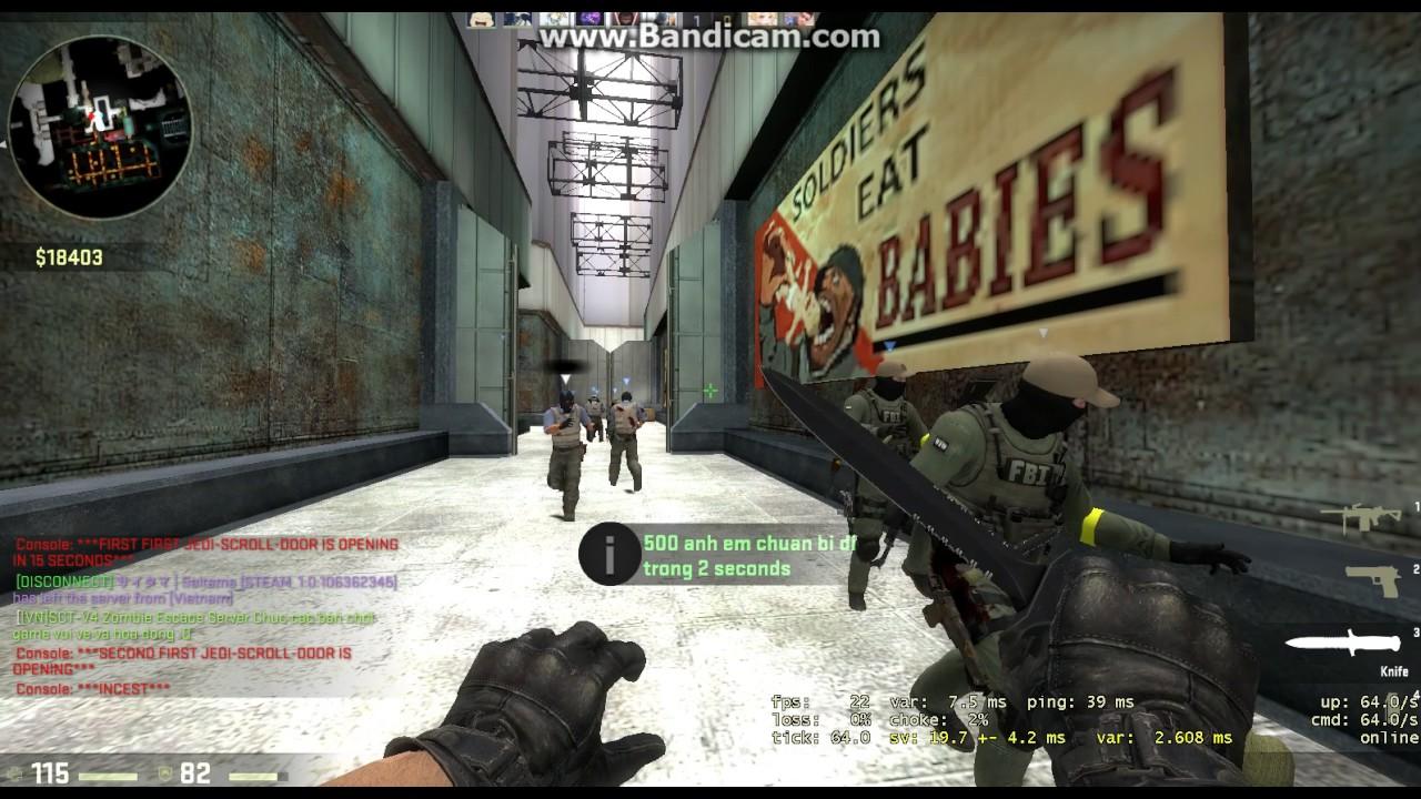 CSGO: zombie escape sv viet nam :3
