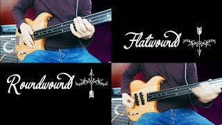 FRETLESS BASS: Roundwound vs. Flatwound Strings