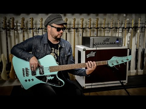Branden From Neon Trees Demos The Mike Lull 'Jeff Ament' Signature Bass Guitar