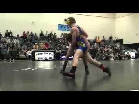 Wrestling Clay Carter VS Taylor Bear Regionals 201...