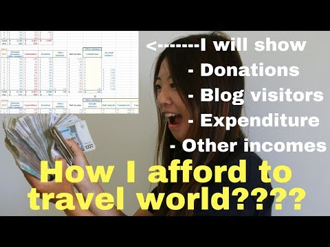 How I afford to travel world- About donations, other incomes, expenditure, blog visitors.(CC)
