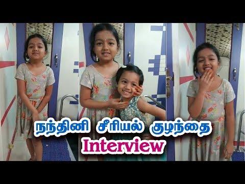 நந்தினி சீரியல் ஆதித்ரி நேர்காணல் | Adhitri Guruvayurappan Interview at Nandhini Spot