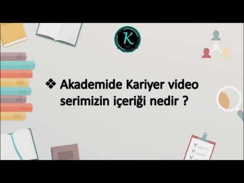 Akademide Kariyer Video Serimiz çok Yakında Sizlerle!