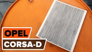 Montavimo Oro filtras, keleivio vieta OPEL CORSA D: nemokamas video