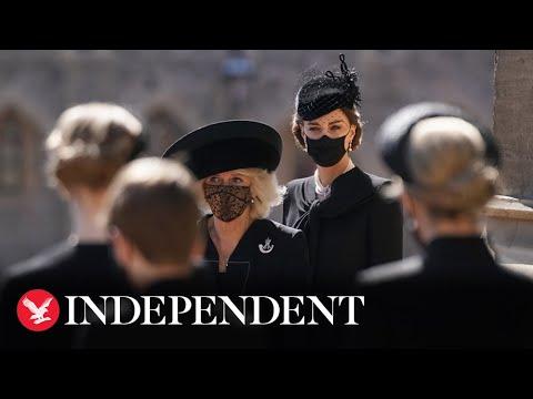 Kate and Camilla arrive at Duke of Edinburgh's funeral