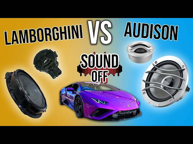 The TRUTH About Factory Sound Systems | SOUND OFF - EP.1: Lamborghini Huracan VS Audison