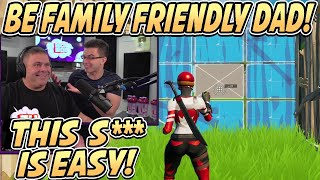Nick Eh 30's Dąd SLIPS UP After Nick Tries To TEACH HIM How To Play FORTNITE! - Fortnite Season 5