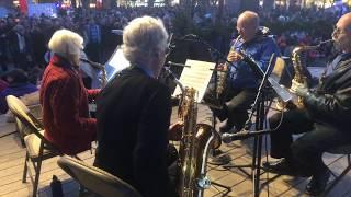 Lighting Of The Trees Ceremony 2017 Santa Fe, NM Plaza - High Desert Saxophone Quartet