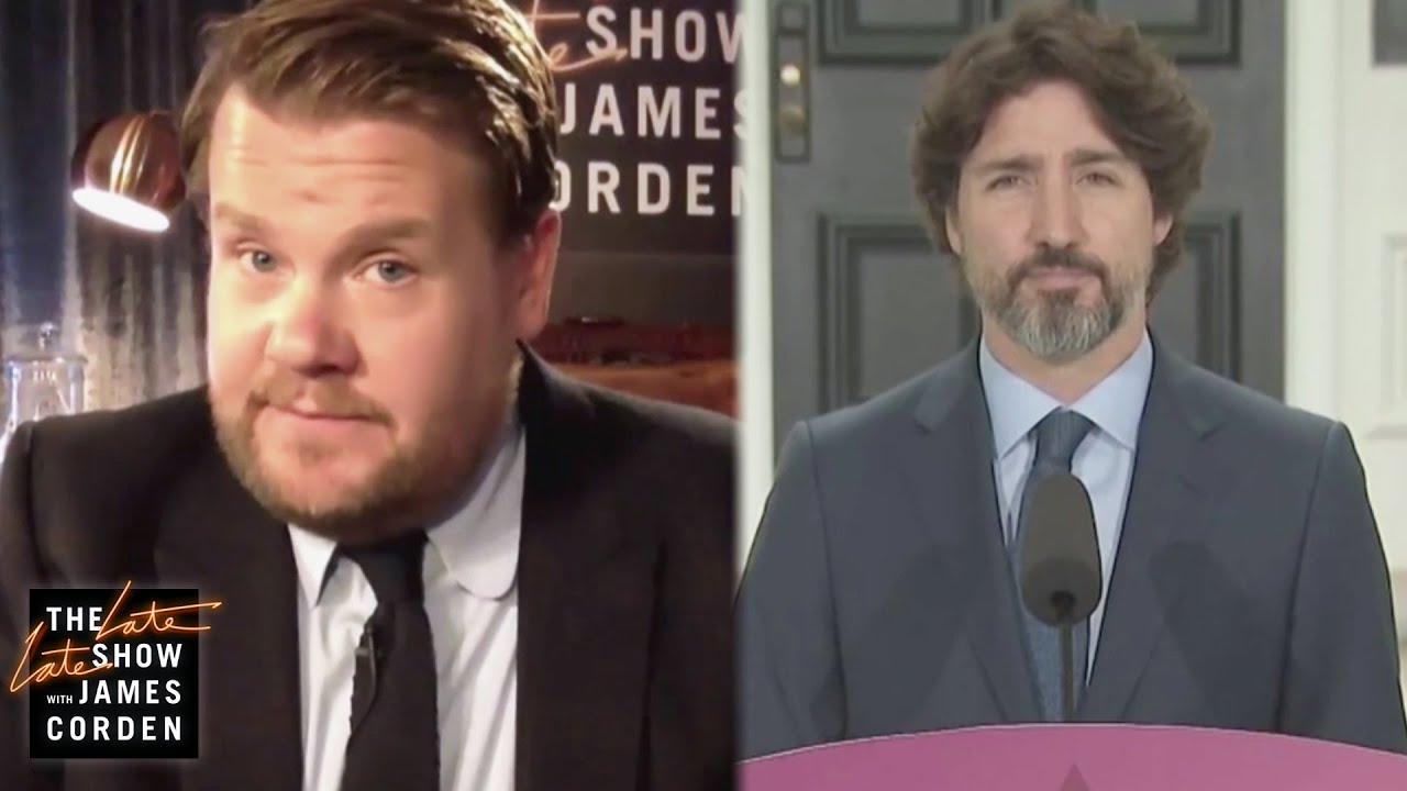 James Corden Has Questions for PM Justin Trudeau