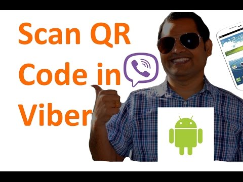 How to scan QR code in viber app