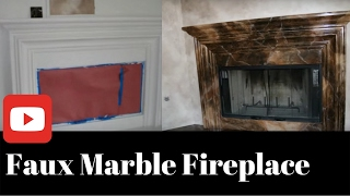 Faux Marble Firplace Artist Lisa Bryant