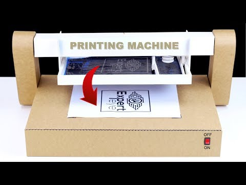 How To Make Auto Screen Printing Machine From Cardboard! DIY Printing Machine