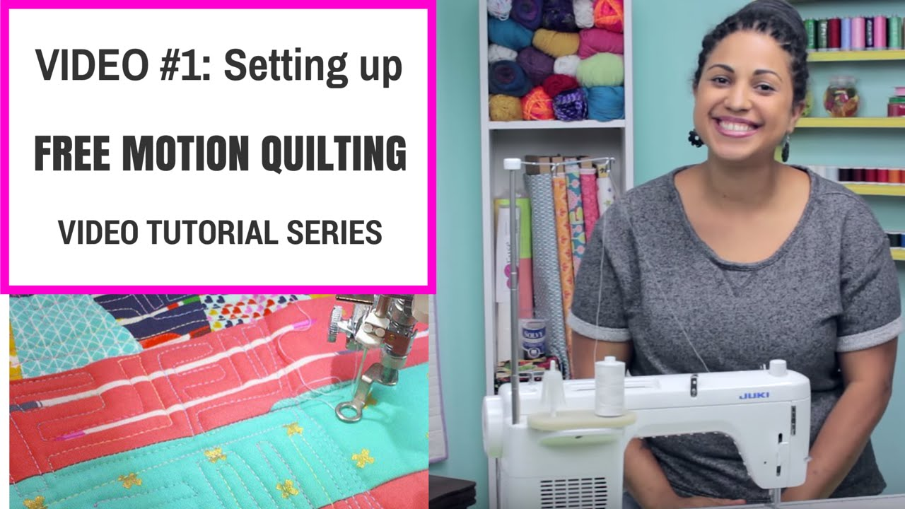 Free Motion Quilting Tutorial Series- Video #1: Setting up your ... : freehand quilting with sewing machine - Adamdwight.com