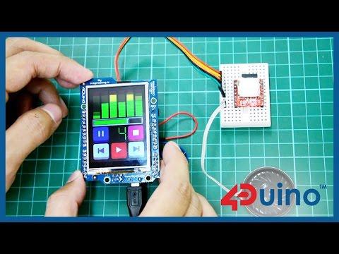MP3 Player Using 4Duino and SOMO-II