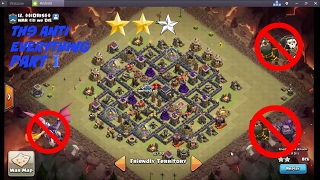 AWESOME TH9 WAR BASE | ANTI BOWLERS | ANTI QUEEN WALK | ANTI HGHB | ANTI LAVALOON | CLASH OF CLANS