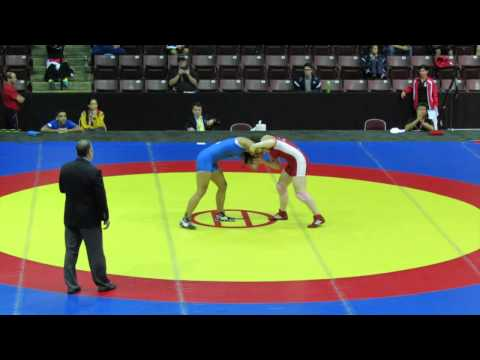 2014 Junior Pan-American Championships: 72 kg Gracelynn Doogan (CAN) vs. Andrea Olaya (COL)