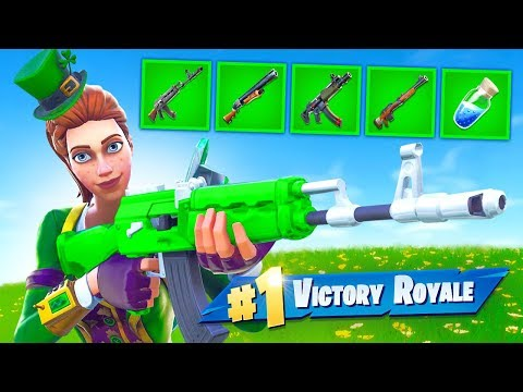 Fortnite but *ONLY* Green Items! thumbnail