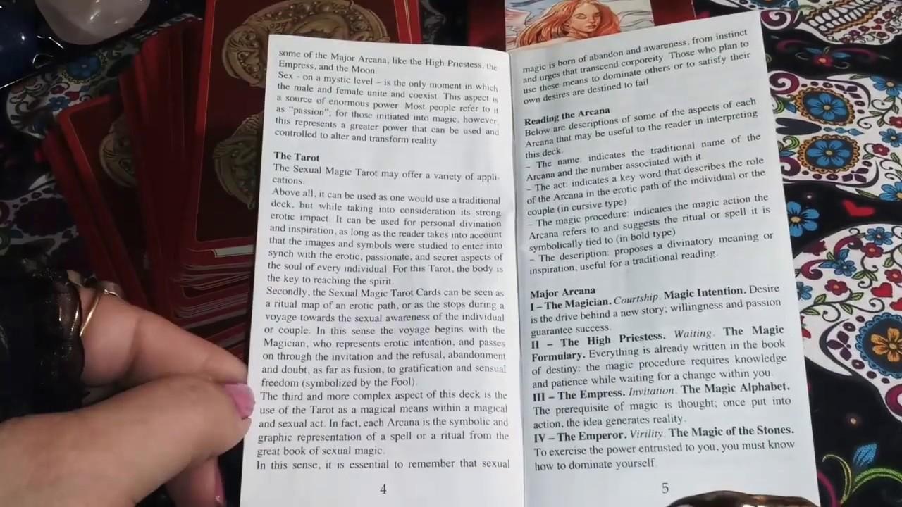 Tarot Of Sexual Magic Booklet