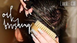 ASMR 💆 || REAL PERSON scalp brushing & exfoliating with Jojoba Oil || no talking 🤐 ||