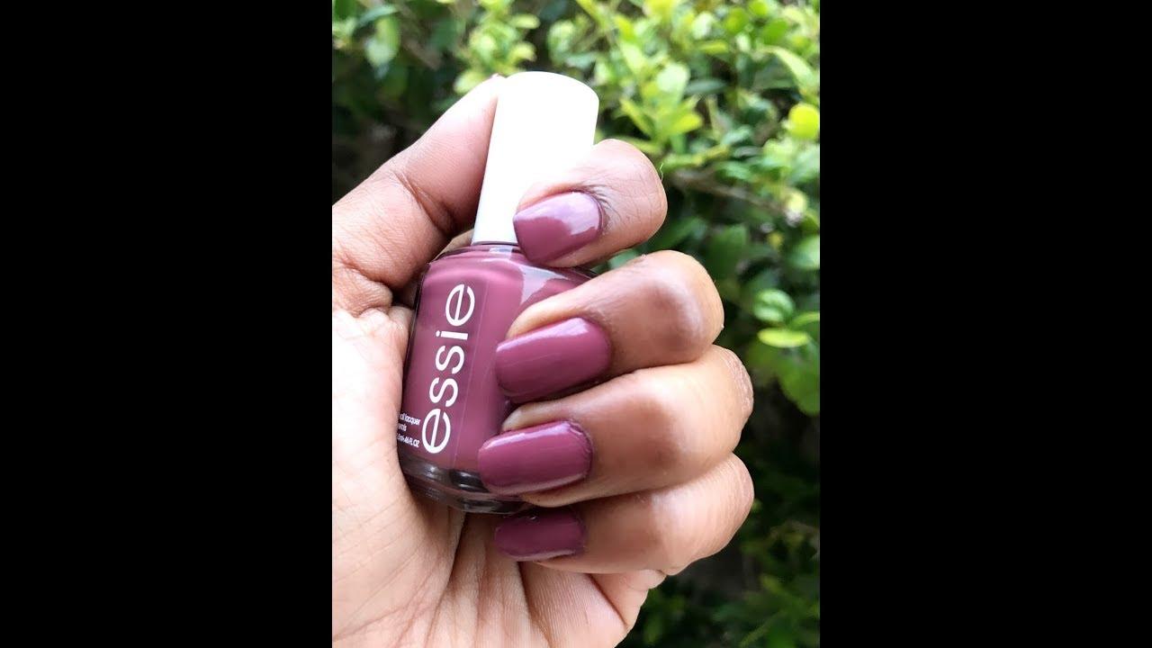 Essie Angora Cardi nail polish and Gel setter top coat review - YouTube