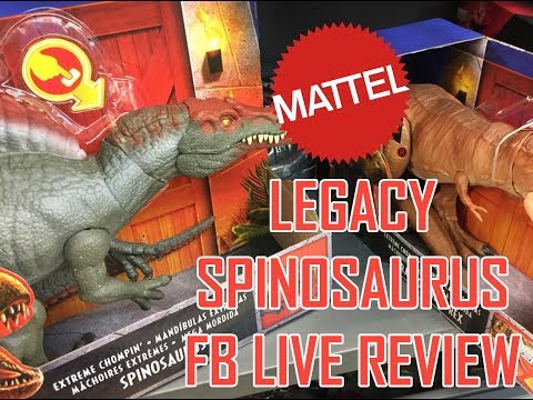 Mattel Jurassic World Legacy Spinosaurus toy review