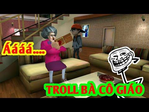 LongHunter Đi Troll Bà Cô Giáo Bê Đê!  Scary Teacher 3D