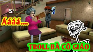 LongHunter Đi Troll Bà Cô Giáo Bê Đê!| Scary Teacher 3D