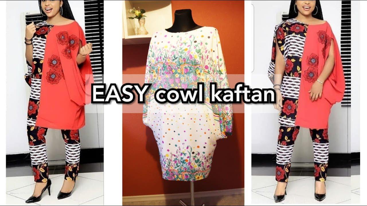 How to make cowl kaftan | BUBU Kaftan | spring|summer 2019 dress idea | Easter outfit