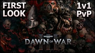 WARHAMMER 40K Dawn of War 3 - Gameplay First Look (Multiplayer 1v1 Game Mode)