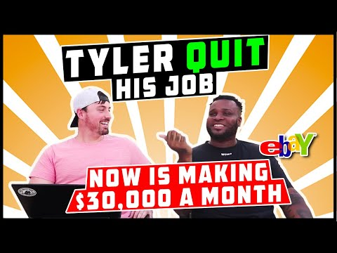 Tyler Quit his Job after 6 Months of eBay Drop Shipping and Now is Making $30,000 a Month