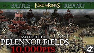 10,000pt Pelennor Fields Massive Battle Report! ~ Lord Of The Rings