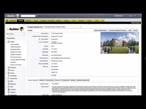e-Builder: Managing a Program of Construction Projects
