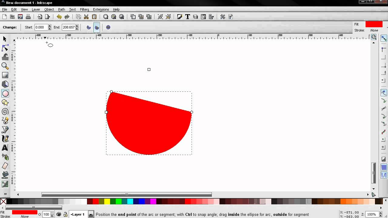 how to write around a circle in inkscape manual