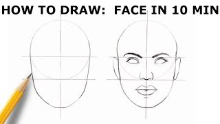 HOW TO DRAW: FĄCE | Basic Proportion