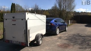 Tesla Model X can summon with trailer