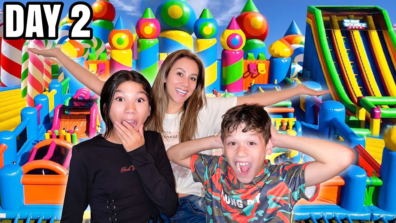 LAST To Leave The World's LARGEST Bouncy HOUSE Wins A Mystery Prize! (Challenge)   Familia Diamond
