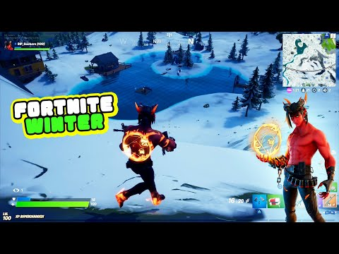 Fortnite Battle Royale Winter Map - PS4 Dominion Devil Skin Gamplay