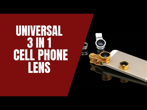 Universal 3 In 1 Clip On Fish Eye Macro Wide Angle Cell Phone Lens Camera Kit For  All Mobile