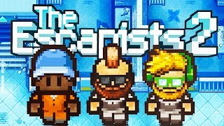 The Epic Prison Escape! - The Escapists 2 Gameplay Preview - Multiplayer