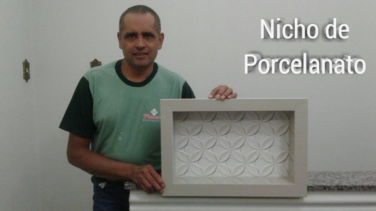 Como Fazer Um Nicho de Porcelanato  YouTube -> Nicho Para Banheiro De Porcelanato