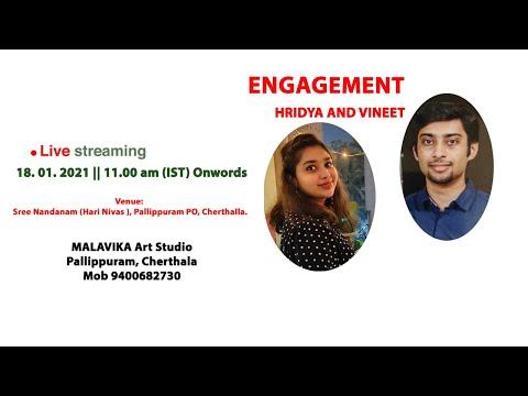 Engagement Ceremony    HRIDYA AND VINEET    18.01.2021    11.00 am   