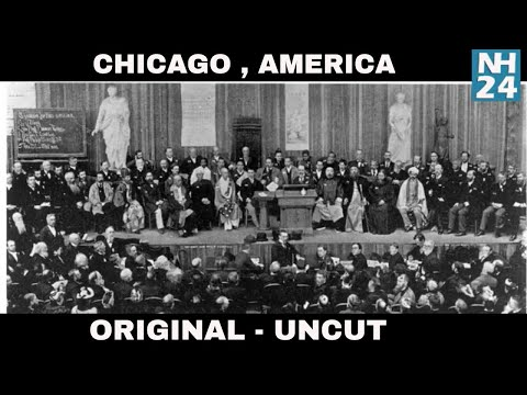 Original Speech - Swami Vivekananda Chicago Speech In Hindi Original | Full Lenght | Uncut Speech