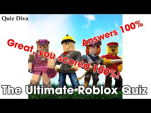 The Ultimate Roblox Quiz Answers 100 Quizhelp Xyz Youtube